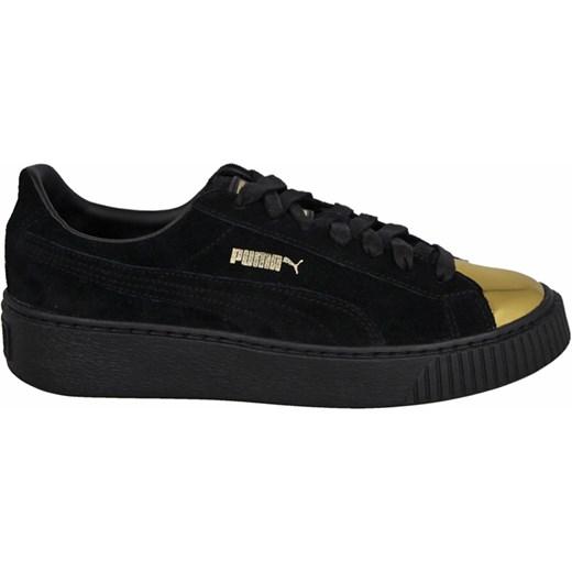 Buty damskie sneakersy Puma Suede Platform Gold 362222 02 czarny sneakerstudio.pl