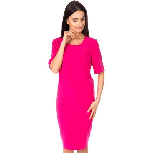 e5dadb4071 Sukienka w kolorze fuksji bialcon-pl rozowy krótkie w Domodi