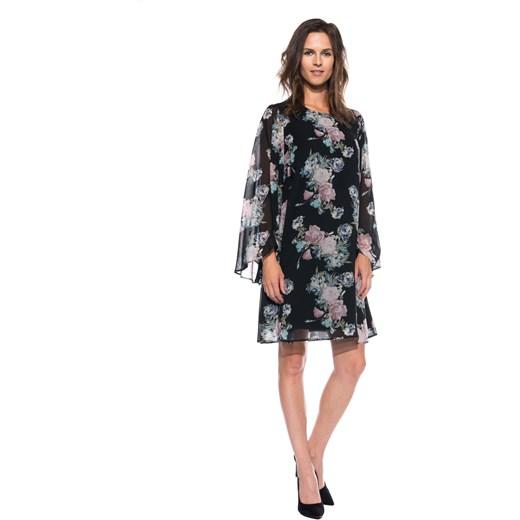d1820672723631 Sukienka typu parasolka z szerokim rękawem Bialcon bialcon.pl w Domodi