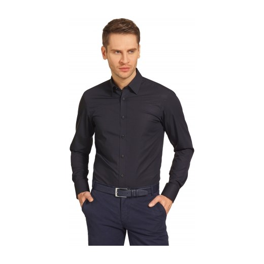 a02403c6666d9 Czarna koszula męska Lambert Wólczanka w Domodi