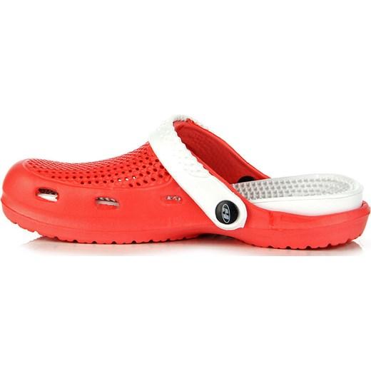 24fc5f5dbc4ca0 HASBY K782B czerwono-białe klapki basenowe plażowe butyraj-pl pomaranczowy  basen w Domodi