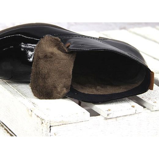 bbd454e4b7c28 ... Czarne botki damskie lakierowane ocieplane Marco Tozzi 25118-37 Marco  Tozzi 42 ButyRaj.pl