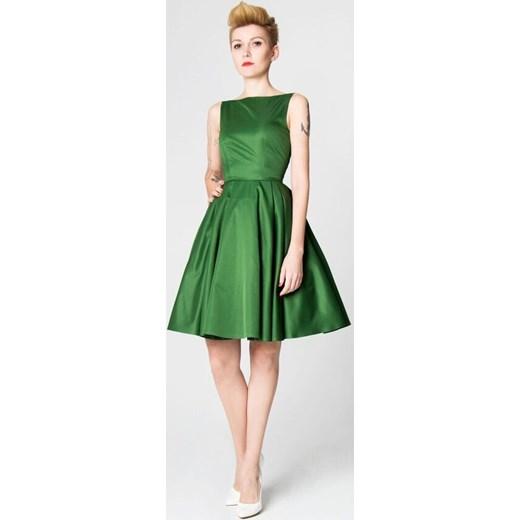 af7f6f2cce Sukienka Vivien zielona zielony Szyjemy Sukienki showroom.pl w Domodi