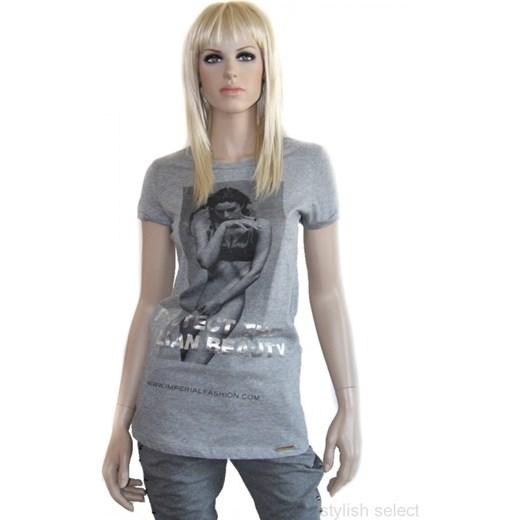 888dc47aa6 markowa odziez włoska Imperial t-shirt Monica Bellucci szary stylishselect  bawełniane ...