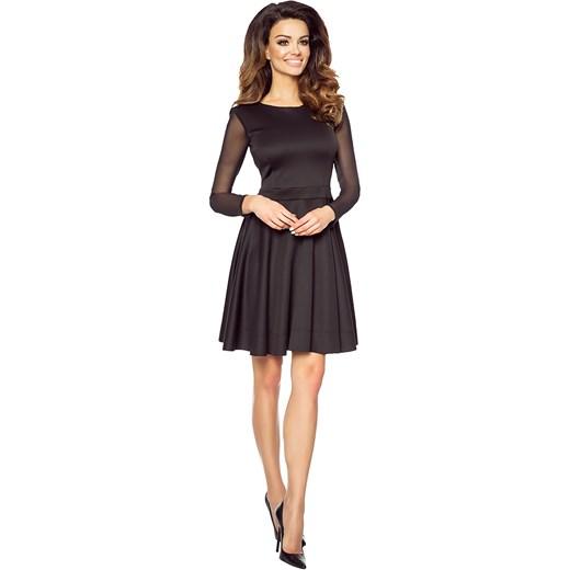 4d74d38414 ... Dzianinowa sukienka z rękawem z siatki KM199 Kartes Moda szary 44 (XXL)  karteS- ...