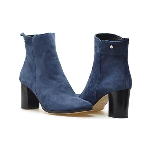 9c98a986 Botki Venezia 2457 Granatowe zamsz niebieski Arturo-obuwie w Domodi