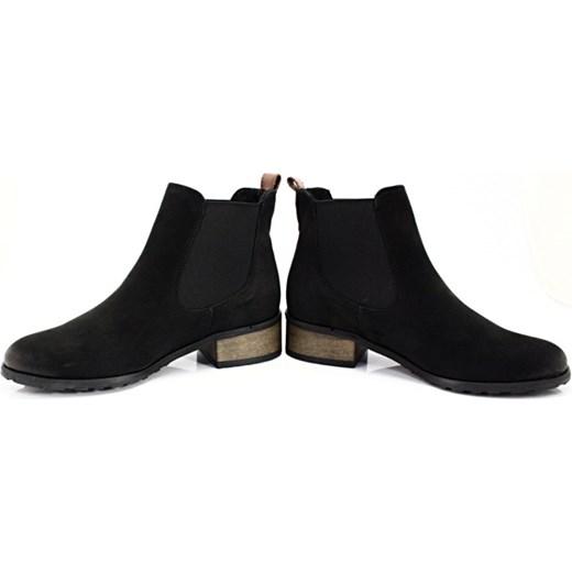 a92d6cf01da4c CHILLI SHOES 010 CZARNY - Klasyczne damskie sztyblety ze skóry czarny  Chilli Shoes 39 Tymoteo.