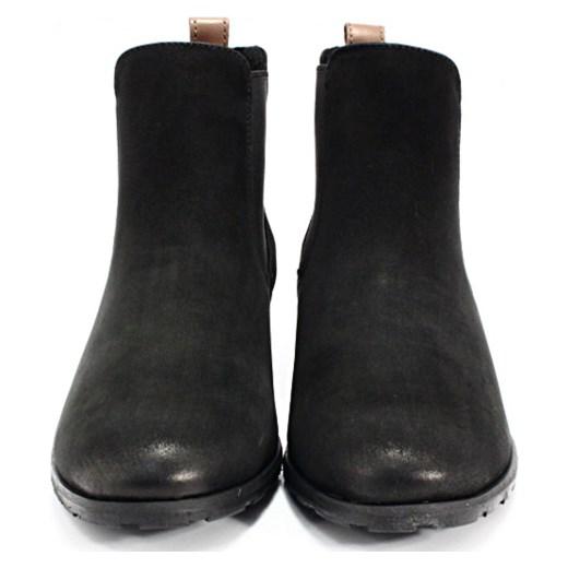 d6e10e07ddf4d CHILLI SHOES 010 CZARNY - Klasyczne damskie sztyblety ze skóry Chilli Shoes  czarny 38 Tymoteo.