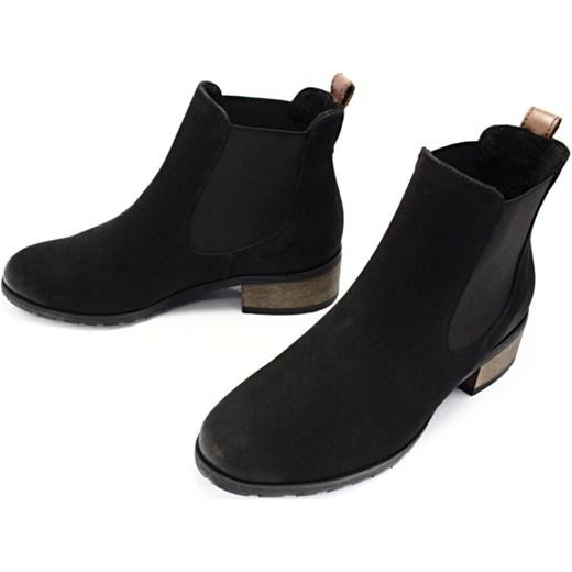 f29db9031ca82 CHILLI SHOES 010 CZARNY - Klasyczne damskie sztyblety ze skóry czarny  Chilli Shoes 36 Tymoteo.