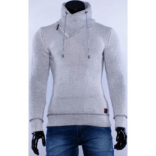 638038425583 SLIM męski biały sweter golf stójka factoryprice niebieski jesień w ...