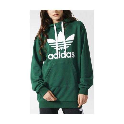 42d0a4264b adidas Bluza z kapturem Trefoil Long Hoodie zielony Adidas 28