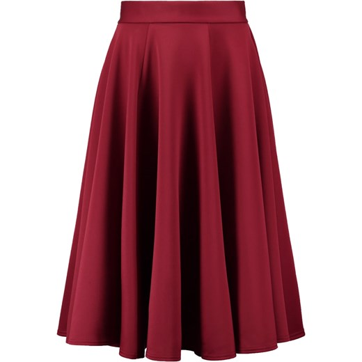 Closet Spódnica trapezowa midi bordowa berry | Spódnica