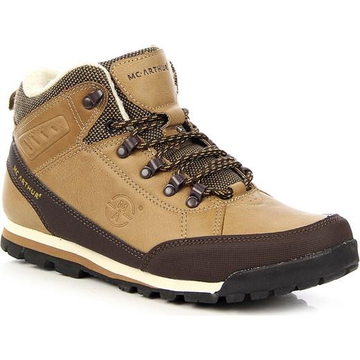 16660e5012672 Brązowe buty trekkingowe męskie ocieplane McArthur Mcarthur brazowy 44  wyprzedaż ButyRaj.pl ...