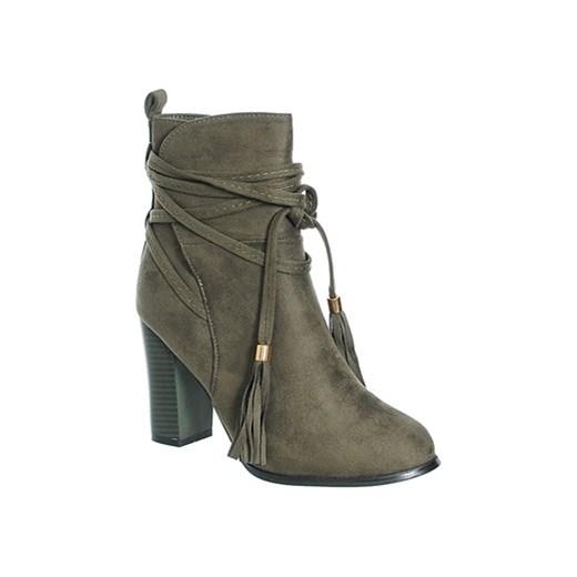 4b2e1c6a466c3d ZAMSZOWE BOTKI DAMSKIE NA SŁUPKU Family Shoes w Domodi
