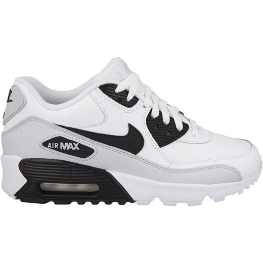 BUTY NIKE AIR MAX 90 LEATHER (GS) 833412 104 szary yessport.pl
