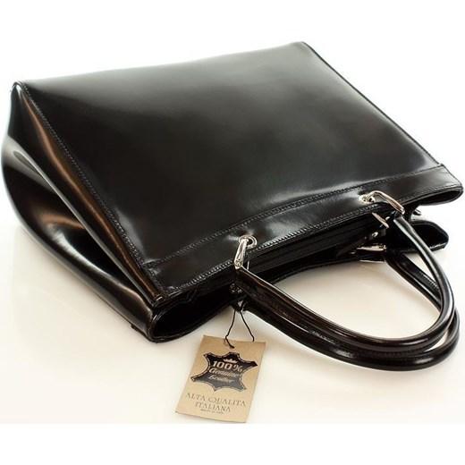 2f5b7a0f0d44b Skórzana torebka kuferek czarny tamp BURANO CLASSICO One Size merg.pl ...