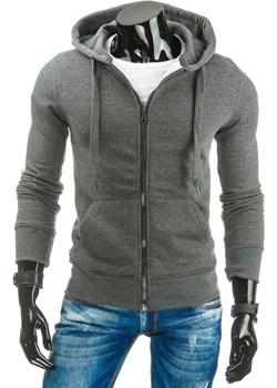 Bluza męska rozpinana antracytowa (bx2196)   DSTREET - kod rabatowy