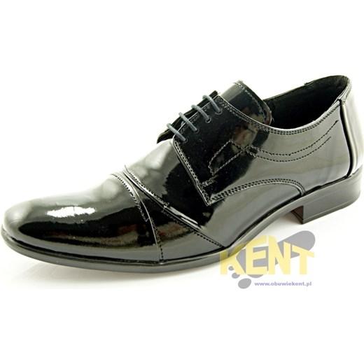 f1db613655f8e KENT 114 CZARNY LAKIER - Męskie lakierki czarne ze skóry, wizytowe  sklep-obuwniczy- ...