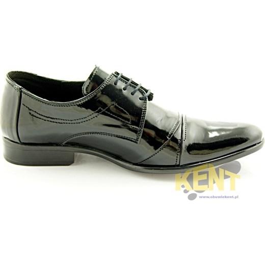 1c0792eba6f2d ... KENT 114 CZARNY LAKIER - Męskie lakierki czarne ze skóry, wizytowe  sklep-obuwniczy- ...