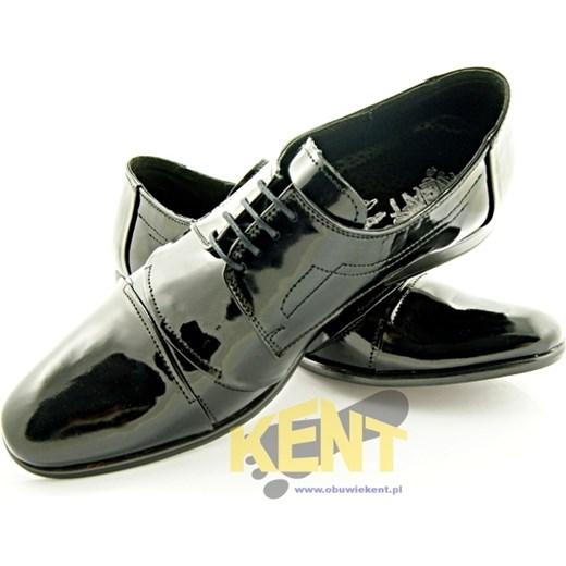 a1a0a96a1a132 ... 114 CZARNY LAKIER - Męskie lakierki czarne ze skóry, wizytowe  sklep-obuwniczy-. Zobacz: Kent