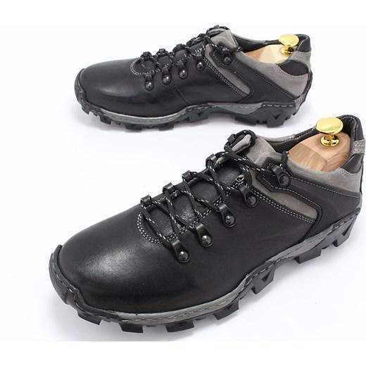 1844f97f1fa9b ... KENT 116 CZARNO-SZARE - Trekkingowe buty męskie 100% skórzane  sklep-obuwniczy- ...