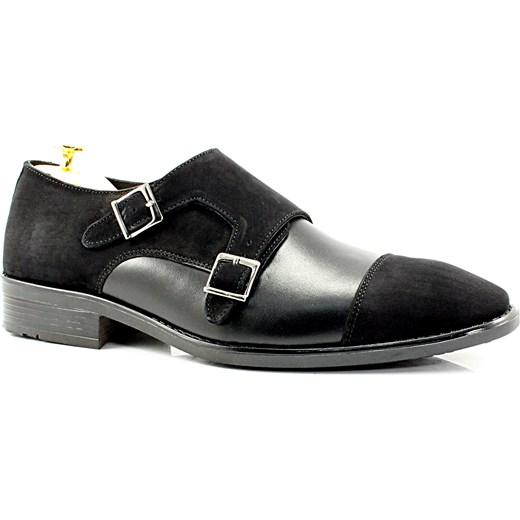 b870ecf0311a6 ... KENT 281 CZARNY LICO+NUBUK - Skórzane buty casual nowy wzór  sklep-obuwniczy- ...