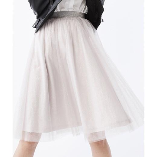 03cfd138 Mohito - Tiulowa spódnica z brokatem Różowy