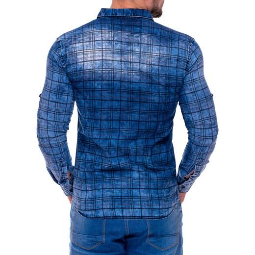 Koszula E922A niebieski Escoli w Domodi  bNIhM