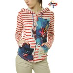 BLUZA DESIGUAL SWEAT SHIRT LONG SLEEVE RED