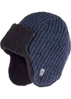 Zimowa czapka - uszatka męska - Granatowa mulina Pamami   - kod rabatowy
