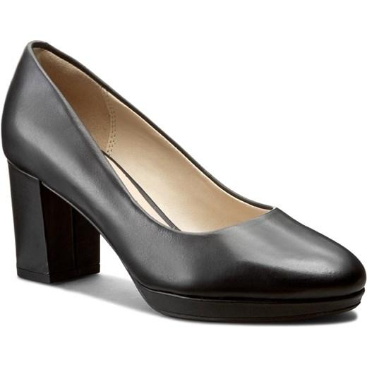 0240f01d Półbuty CLARKS - Kelda Hope 261235544 Black Leather Clarks czarny 39  eobuwie.pl