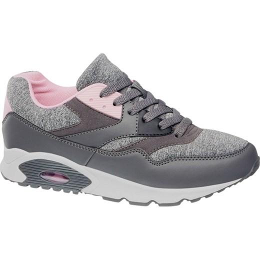 adcf012f5e213 sportowe buty damskie deichmann szary na obcasie w Domodi