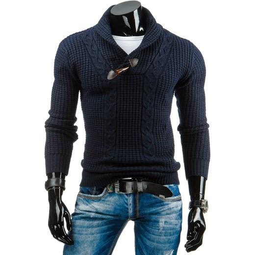 b2d8a4a968fb Sweter męski granatowy (wx0650) dstreet czarny elastan w Domodi