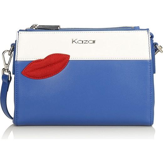 cd077e322c575 Niebieska torebka przez ramię niebieski Kazar kazar.com w Domodi