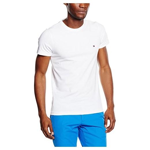873ccd581 Tommy Hilfiger męski T-shirt Core Stretch Slim cneck Tee - krój dopasowany  xl bialy