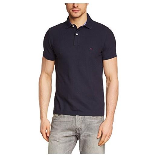 2a8dda9fc5308 Koszulka polo Tommy Hilfiger dla mężczyzn, kolor: niebieski (MIDNIGHT 403),  rozmiar: Small (rozmiar producenta: SM) Amazon w Domodi