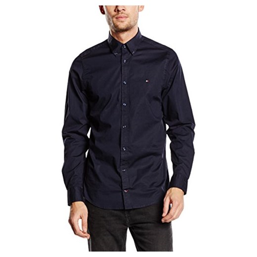 32665f17c Koszula Tommy Hilfiger STRETCH POPLIN SF2 dla mężczyzn, kolor: niebieski  (MIDNIGHT 403)