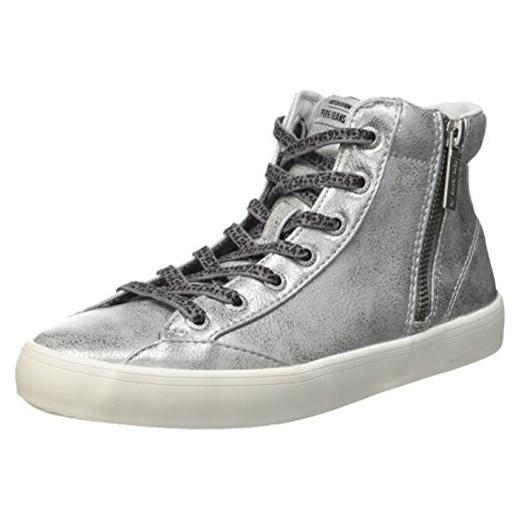 6ac595dc9b921 Buty sportowe za kostkę Pepe Jeans London CLINTON COMBI dla kobiet, kolor:  srebrny,