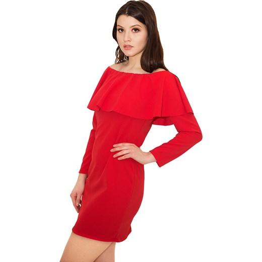 80fb2d08d5dae3 Sukienka Antonia Fire Red - czerwona hiszpanka z falbanką Belzoni w Domodi