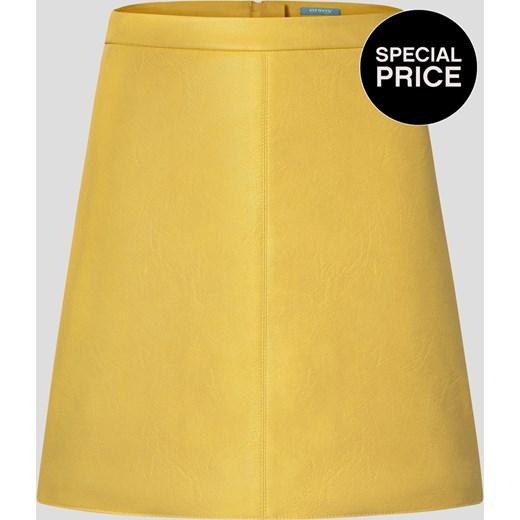 10bd244a Trapezowa spódnica z eko-skóry zolty Orsay orsay.com