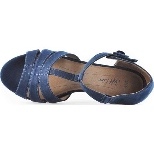 37a2452d Sandały Soft Line 8-28365-22 Granatowe Tęgość H arturo-obuwie niebieski  lato w Domodi