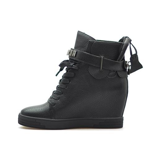 800a0394f80f ... Sneakersy Sergio leone 28788 Czarne lico szary Sergio Leone  Arturo-obuwie ...