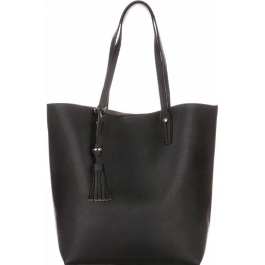 8fb24dd238d87 Duża Torba Damska David Jones Typu Shopper Bag XXL z Kosmetyczką Czarna  bialy David Jones PaniTorbalska ...
