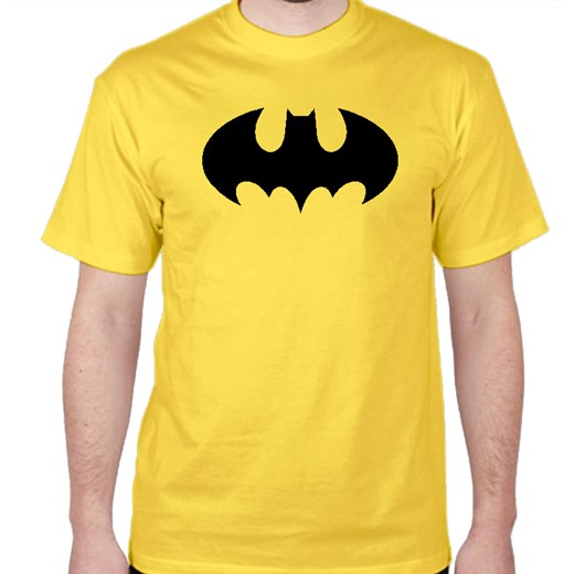 8e66240f3 Koszulka Batman / klasyczna (Męska) Fruit Of The Loom zolty L Koszulki  Filmowe ...