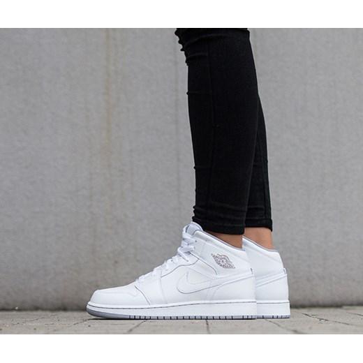 Buty damskie sneakersy Air Jordan 1 Mid Bg 554725 112 Nike szary ... 5d43e3a48be