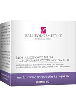 Biosiarczkowy Krem przeciwzmarszczkowy na noc niebieski Malinowe Hotele Sp. Z O.o. BALNEOKOSMETYKI - kod rabatowy