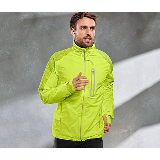 dc1d32e0 Przeciwwiatrowa kurtka do biegania, neonowo żółta Tchibo bialy w Domodi