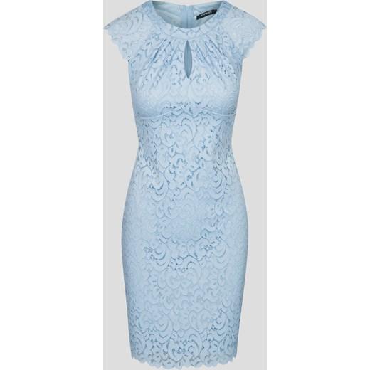 Super Ołówkowa sukienka z koronki Orsay niebieski orsay.com w Domodi SH27
