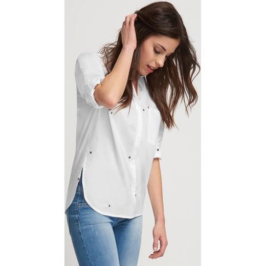 Luźna koszula z haftowanym wzorem szary Orsay w Domodi  4Z5KW