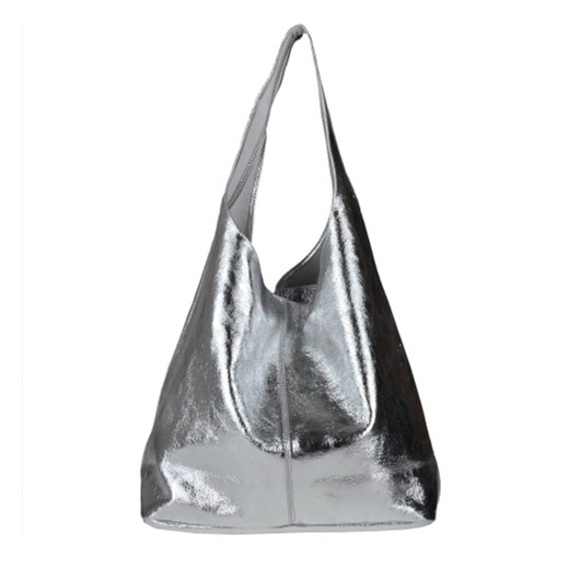 4e91e51a6b710 ... Torebka worek skórzana shopper srebrna Real Leather bialy melon.com.pl  ...
